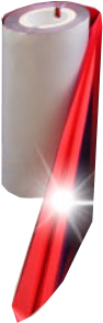 RED FOIL THINY METALLIC 110mm X 300M