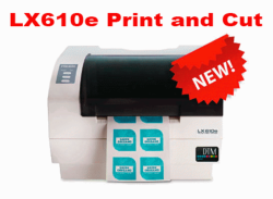 Stocked plain uncut rolls for LX610e print and cut system