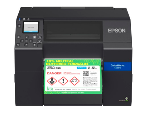 "Epson ColorWorks C6500Ae - 8"" Durable Colour Label Printer + Guillotine - free warranty and training"